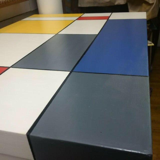 Pop Art Mondrian Inspired Nightstands - a Pair For Sale - Image 4 of 5