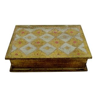 Florentine Gold Book Box For Sale