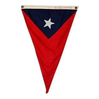 Vintage Maritime Nautical Naval Boat Pennant Flag
