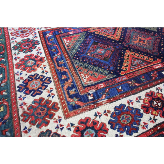 Late 19th Century Late 19th Century Antique Hand-Knotted Talish Kazak Rug - 3′4″ × 8′4″ For Sale - Image 5 of 12
