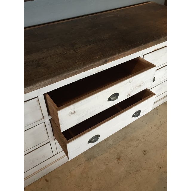 Vintage Weathered White Buffet or Triple Dresser - Image 10 of 11