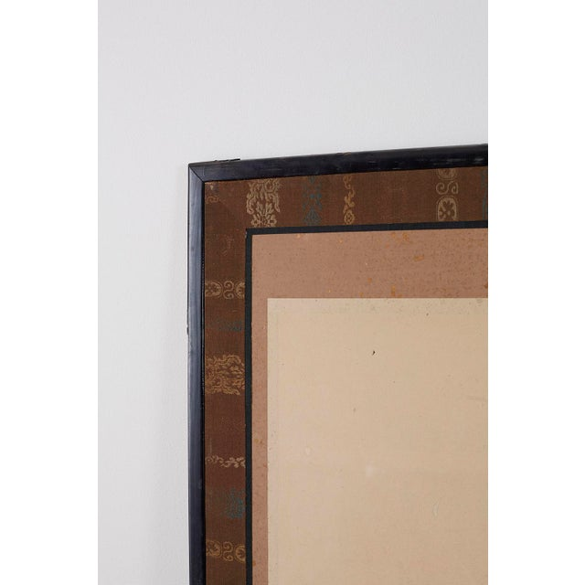 Japanese Six Panel Meiji Landscape Screen For Sale - Image 11 of 13
