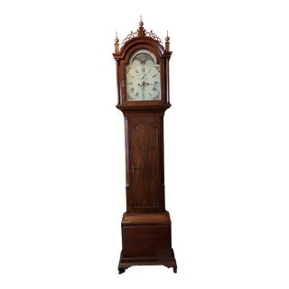 Mahogany Tall Case Grandfather Clock For Sale