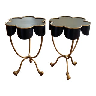 Vintage Metal Side Table - a Pair For Sale
