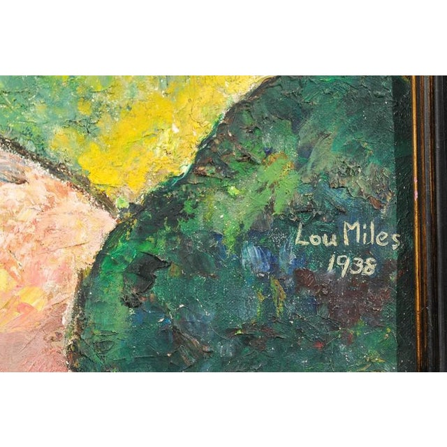 "Lou Miles ""Prospect Park, Brooklyn"" Abstract Painting - Image 4 of 7"
