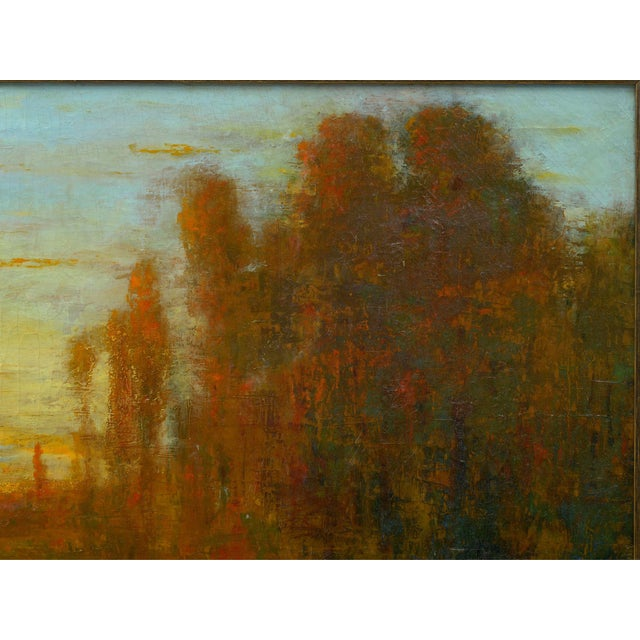 "Mediterranean ""September Harmony"" (1910) Tonalist Painting Oil on Canvas by Karl Emil Termöhlen For Sale - Image 3 of 13"