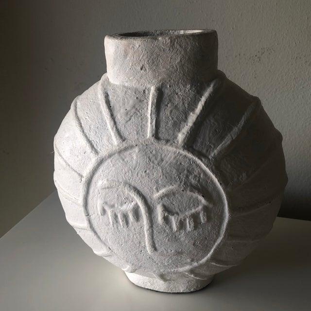 Alabaster Vintage Danish Mid Century Face Vase For Sale - Image 8 of 9