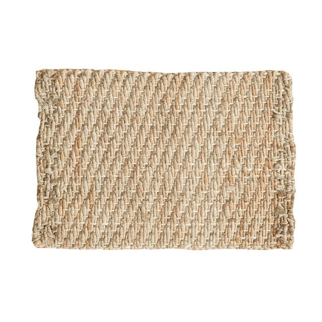 """Hand Braided Ivory Entrance Mat - 2'2"""" X 3'1"""" - Image 1 of 2"""