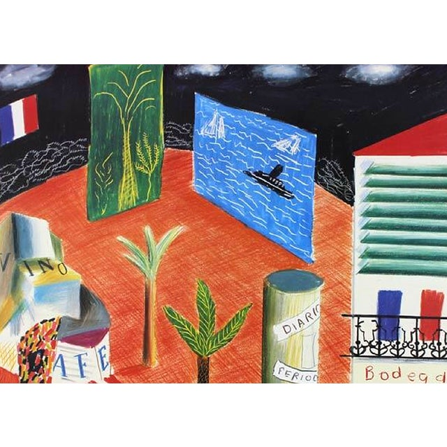Abstract 1982 Vintage David Hockney Miami Beach Arts Festival Exhibition Poster For Sale - Image 3 of 6