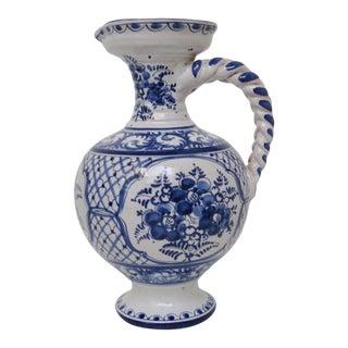 Portuguese Ceramic Pitcher For Sale