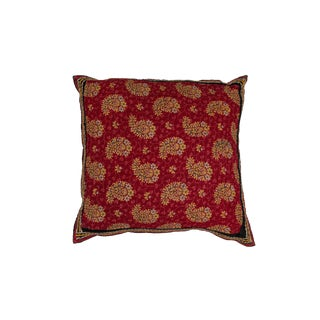 Indian Gurati Block Print Pillow For Sale