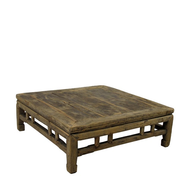 1910s Rustic Square Shandong Coffee Table For Sale In Boston - Image 6 of 6