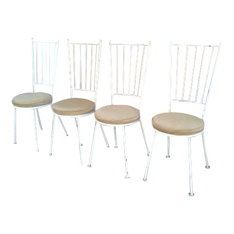 Mid-Century McCobb Style Wrought Iron Chairs - Set of 4 - Image 1 of 8