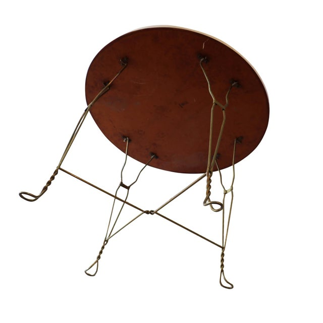 Mid-Century Modern Vintage Wrought Iron Ice Cream Parlor Set For Sale - Image 3 of 10