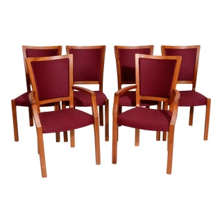 1980s J.L. Moller Danish Modern Teak Dining Chairs - Set of 6 For Sale