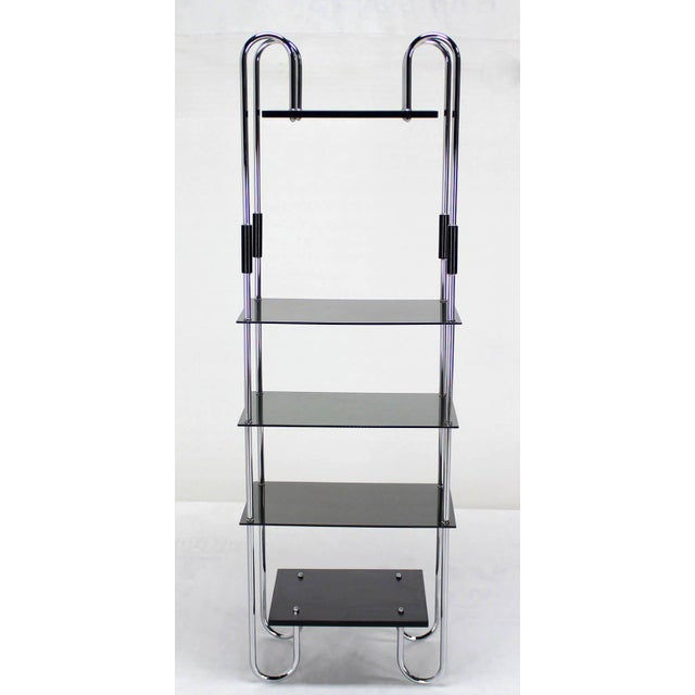 Silver Midcentury Bauhaus Style Etagere For Sale - Image 8 of 10