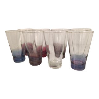 Caddy of Cocktail Glasses - Set of 8 For Sale