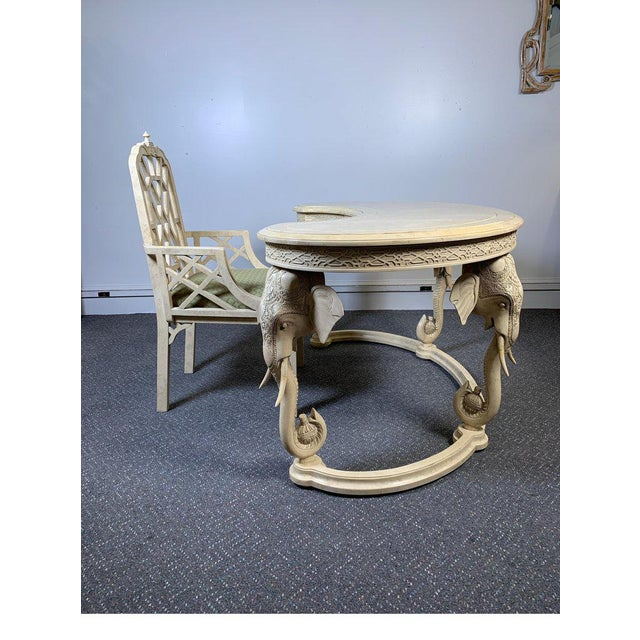 1970s Hollywood Regency Gampel Stoll Kidney Elephant Desk With Chair - 2 Pieces For Sale In Philadelphia - Image 6 of 13