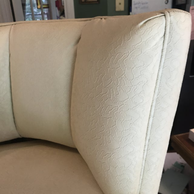 Lights 1950s Mid-Century Modern Padded Channel-Backed Club Chair For Sale - Image 7 of 9