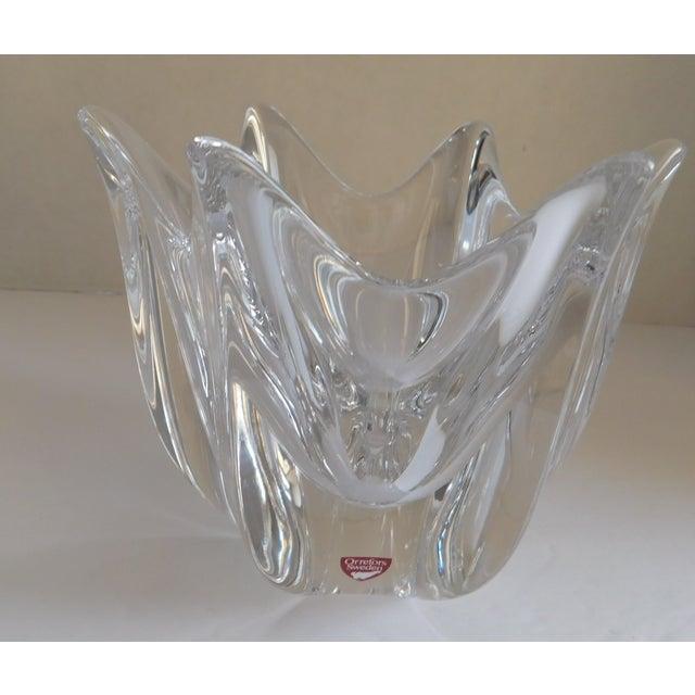 Vintage Orrefors Crystal Bowl For Sale - Image 12 of 12