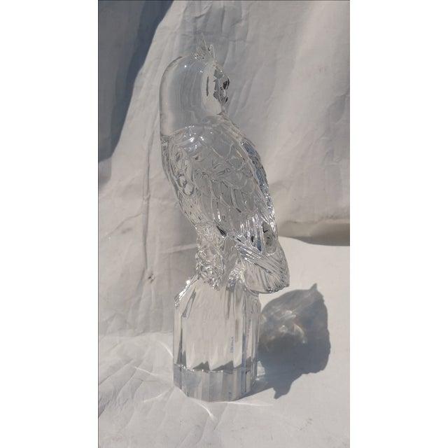 Contemporary Signed Vintage Crystal Owl by Goebel For Sale - Image 3 of 5