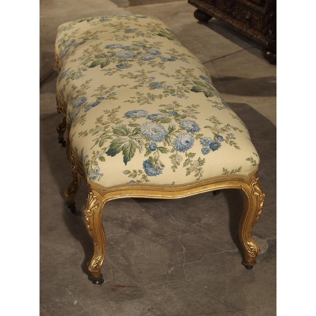Antique Giltwood Regence Style Banquette From France, 19th Century For Sale - Image 9 of 13