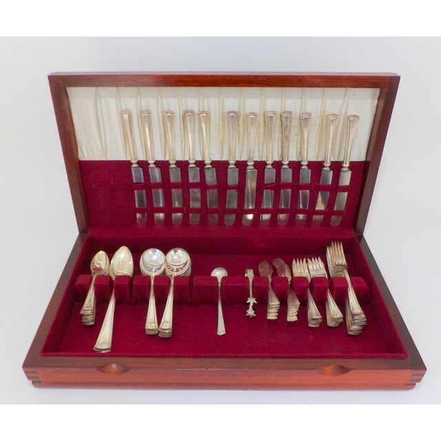 1913 Alvin Patent George Washington Silver Plate Silver Plate Flatware in Box - 62 Pieces For Sale - Image 11 of 11