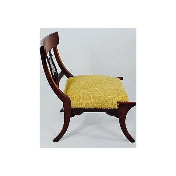 Empire Antique Klismos Mahogany Chair For Sale - Image 3 of 6