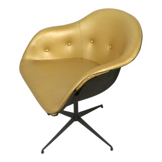 Chic Swivel Chair After Eames For Sale