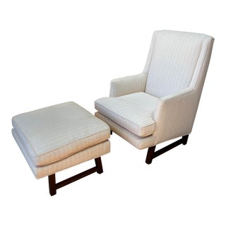 1960s Edward Wormley for Dunbar Lounge Chair and Ottoman For Sale