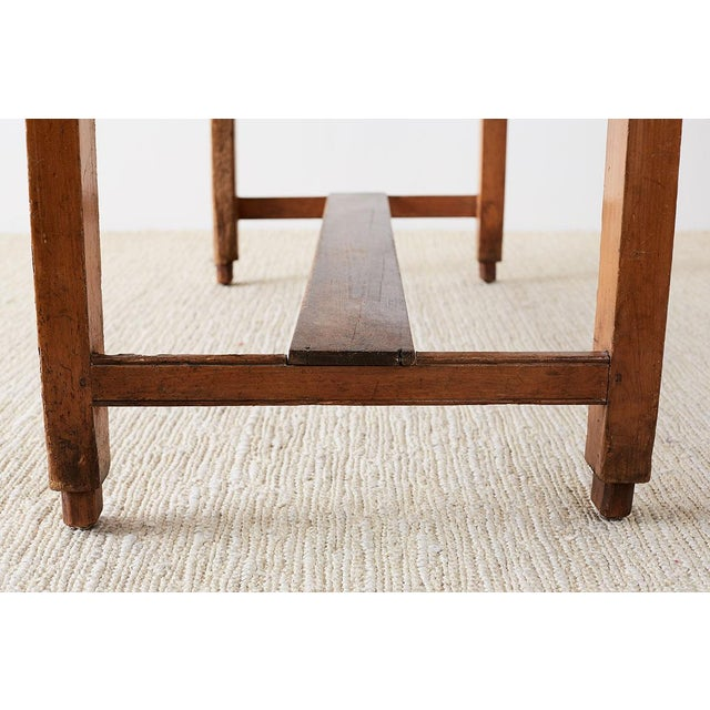 Rustic English Pine Library Table or Farm Table For Sale - Image 12 of 13
