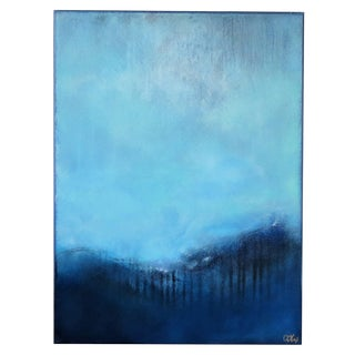 Gentle Blue Symphony, 2. Oil/Acrylic on Framed Canvas 2020 by C. Damien Fox For Sale