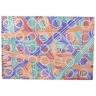 1980's Abstract Image #12 Oil Painting Signed Karsten Wittke Ps1 Nyc & Berlin For Sale
