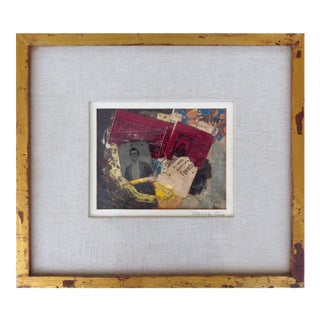 Collage with Tintype by American Artist Harry Dix For Sale