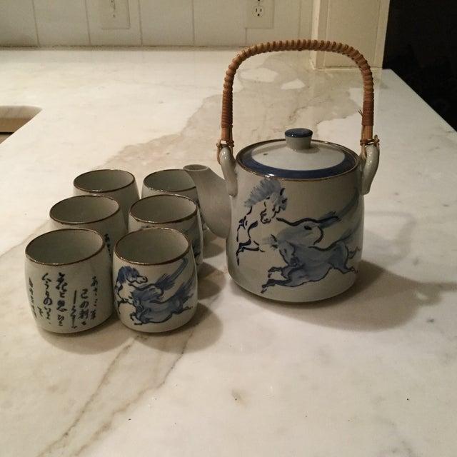 Oriental Tea Set - Set of 7 - Image 3 of 3