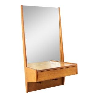 Glenn of California Mid Century Walnut Entry Mirror For Sale