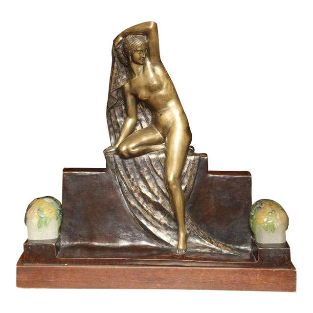 Art Deco Figural Lamp by Fanny Rozet For Sale