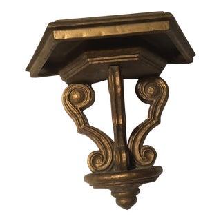 Hollywood Regency Style Gold Shelf For Sale