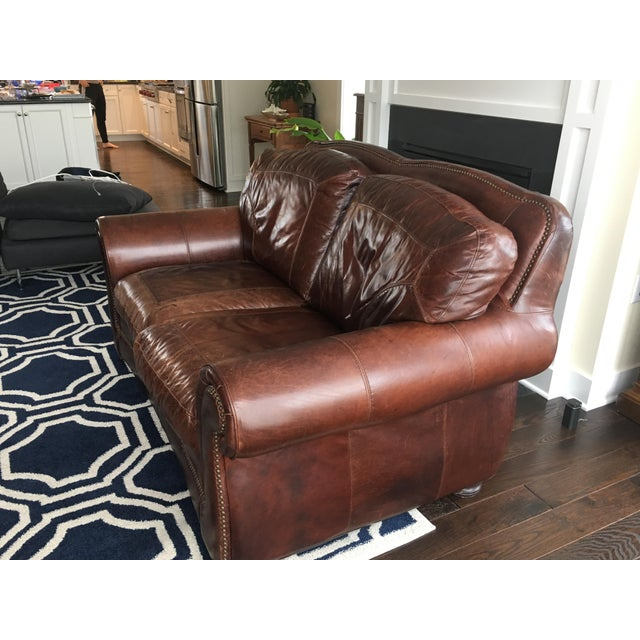 Leather Sofas For Sale In Northern Ireland: Haverty's (Leather Trend) Vintage Autumn Sofa And Loveseat