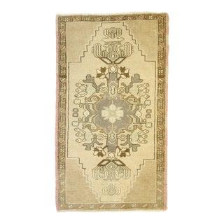 Vintage Turkish Oushak Scatter Rug, 01'08 X 02'11 For Sale