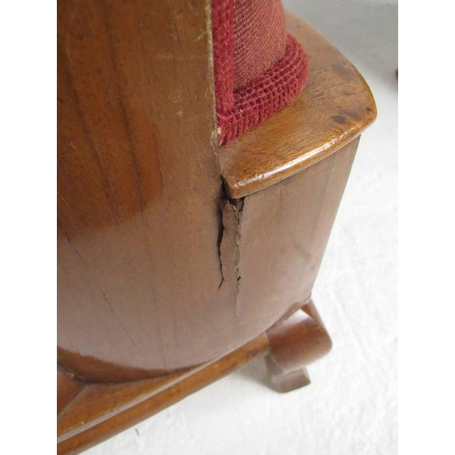 Vintage Barrel Back Italian Side Chairs - A Pair For Sale - Image 9 of 11