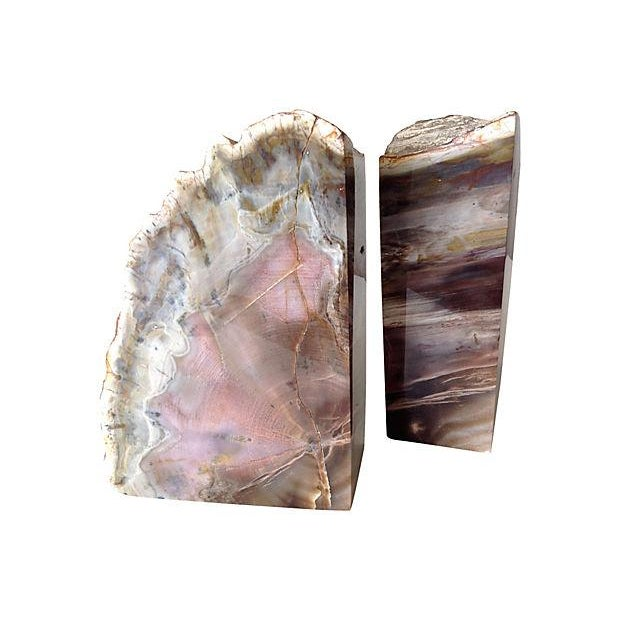 Pink and Chocolate Large Quartz Bookends - A Pair - Image 4 of 7