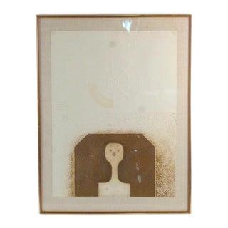 1970s Vintage Abstract Original Framed Artwork, Signed For Sale