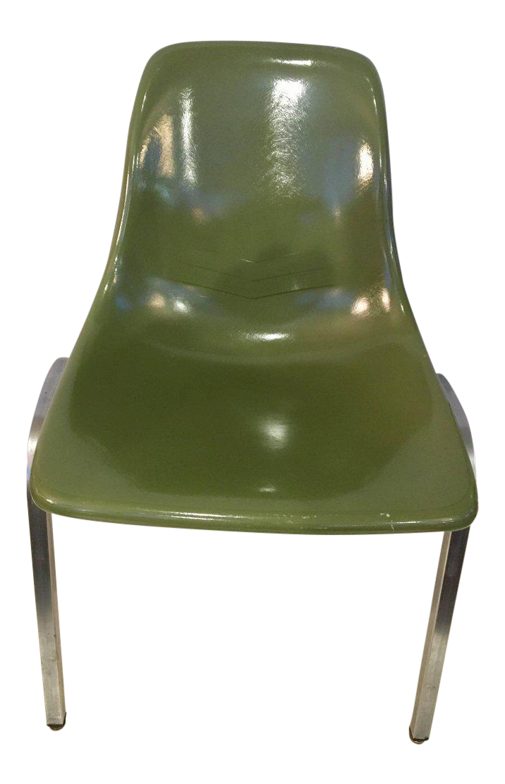 Exquisite Set Of Five Mid Century Modern Howell Chicago Eames Fiberglass  Chairs | DECASO