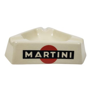 Vintage Ceramic Martini French Bistro Advertising Ash Tray For Sale
