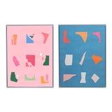 Image of Pop of Color Framed Art - a Pair For Sale