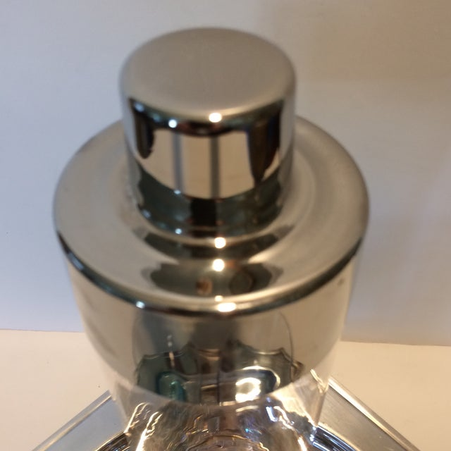 Vintage Martini Shaker with 2 Glasses & Silver Plated Tray Set - Image 9 of 11