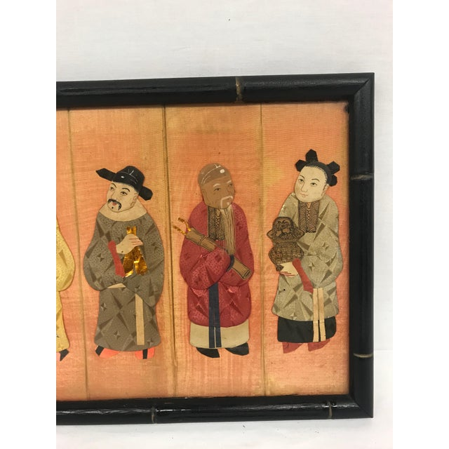 Early 20th Century 19th Century Framed Chinoiserie Figures For Sale - Image 5 of 12