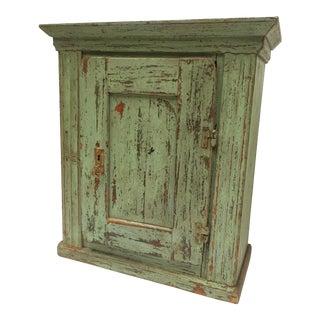 Antique European Chippy Paint Storage Cabinet