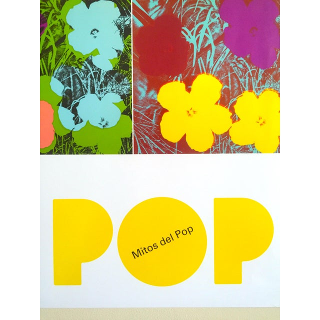 """Andy Warhol Foundation """" Myths of Pop """" Museo Thyssen Lithograph Print Pop Art Exhibition Poster """" Flowers """" 1970 For Sale - Image 11 of 13"""
